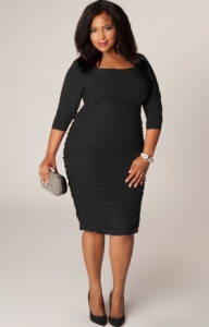 Фото толстой в обтягивающем платье