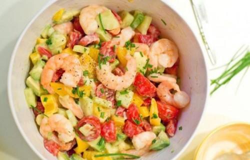 Вкусный салат с креветками на праздничный стол рецепты с