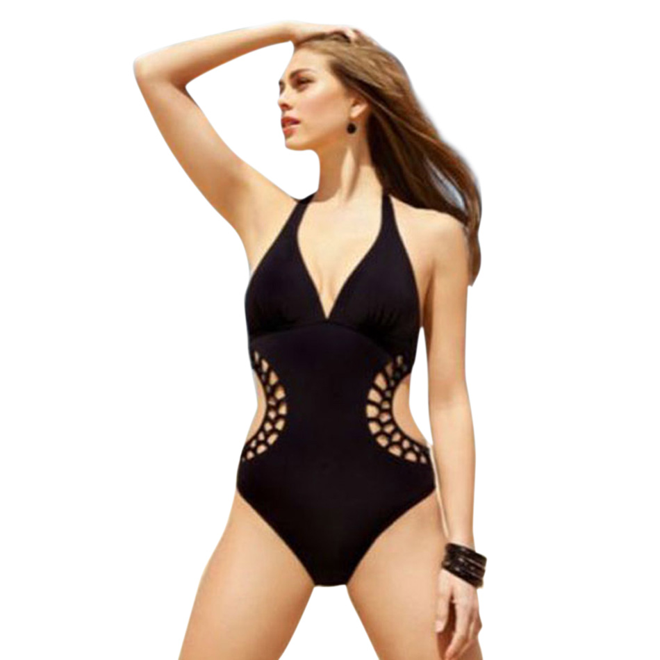 2016-Backless-Black-One-Piece-High-Cut-Bathing-Suits-Sexy-Swimwear-2015-Brand-Halter-Bandage-1